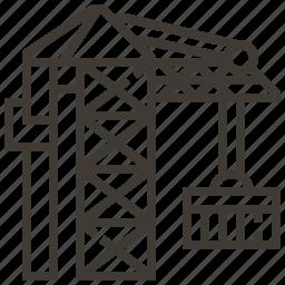 architecture, construction, crane icon