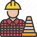 construction, manager, management, cone, avatar icon