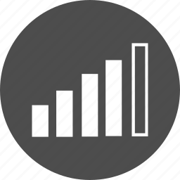 bar, battery, chart, growth, high, scheme, signal, strengh, value, volume, wifi icon