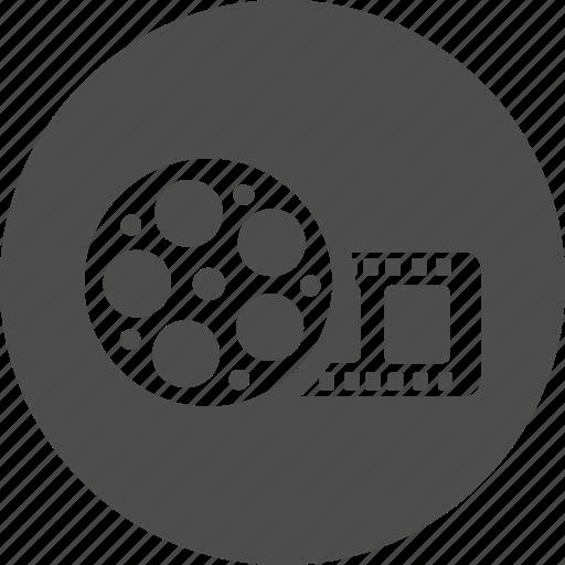bobbin, film, media, movie, multimedia, roll, tape, video icon
