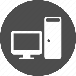 computer, desktop, internet, monitor, my, office, pc, personal, screen, server, work station icon