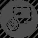 backup, cd, computer, desktop, disk, dvd, restore, storage, sync icon