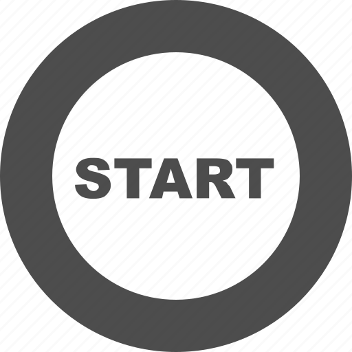 begin, go, play, power button, run, start icon