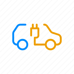 auto, car, electric, plug, power, tesla, vehicle icon