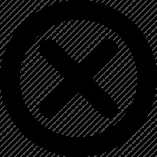 Circle, error, minimal, wrong icon - Download on Iconfinder