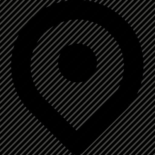 here, location, map, minimal icon