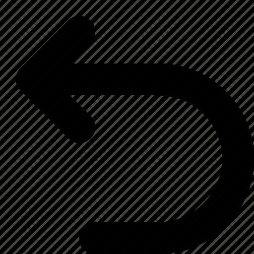 back, minimal, return icon