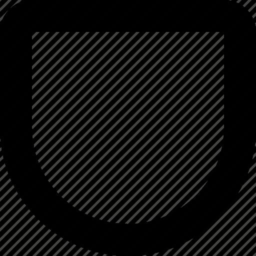 Defence, minimal, shield icon - Download on Iconfinder