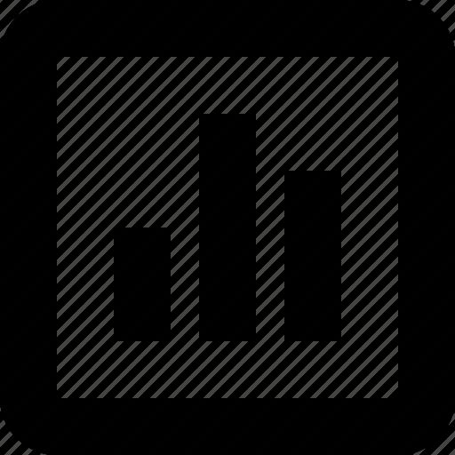 graph, minimal, number, statistics icon