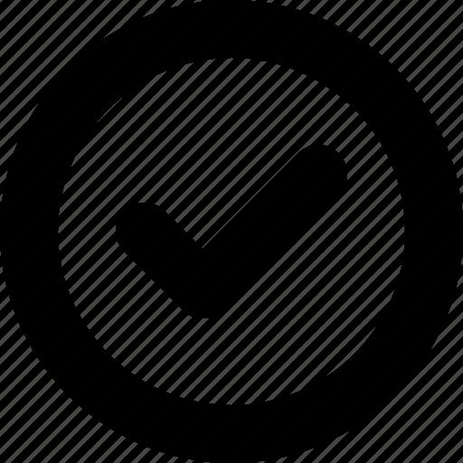 done, minimal, success icon