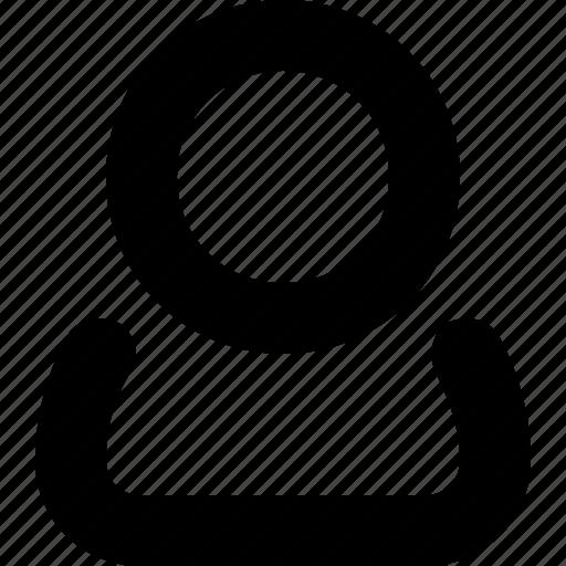 minimal, name, user, username icon