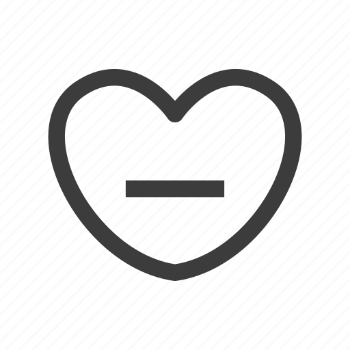 heart, love, remove icon