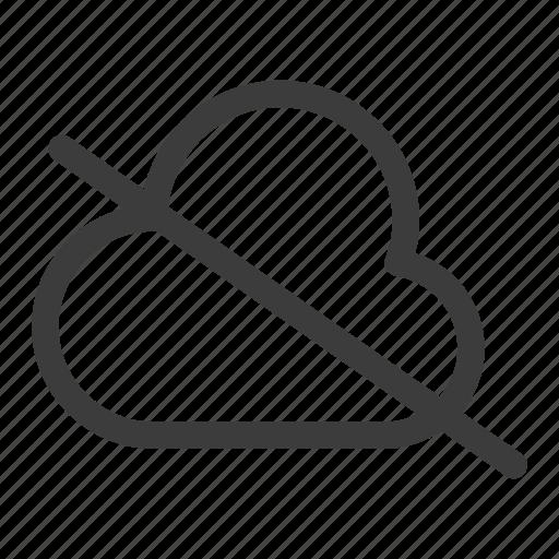 cloud, no cloud, off icon