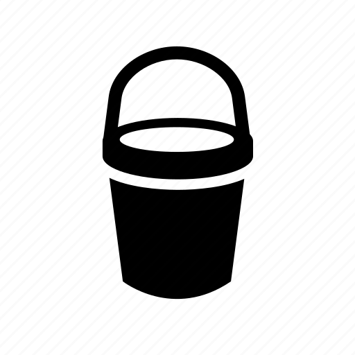 bucket, cleaning icon icon