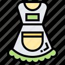 body, uniform, housemaid, apron, protection icon