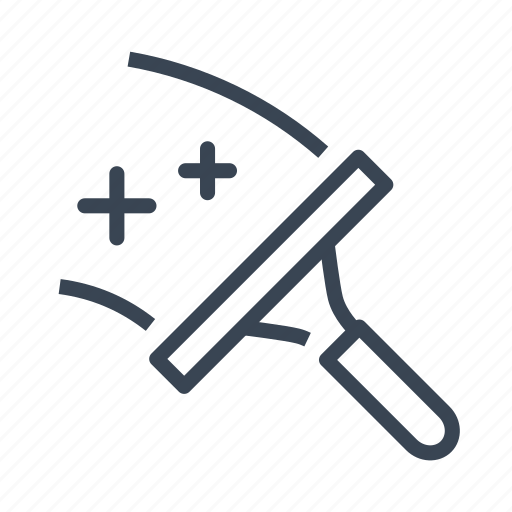 cleaning, glass, squeegee, window, wiper icon
