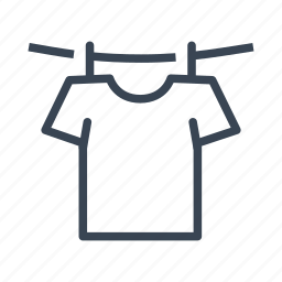 clothes, clothesline, dry, washing icon