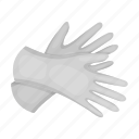 cleaning, glove, protection, rubber, security icon