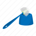 accessory, bathroom, bowl, bristle, brush, cartoon, toilet icon
