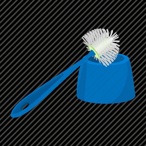 accessory, bathroom, bowl, bristle, brush, cartoon, toilet icon