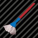 broom, cartoon, household, plastic, sweep, tool, utensil icon