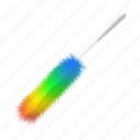 cartoon, clean, colorful, dust, duster, feather, tool icon