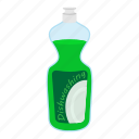 bottle, cartoon, clean, dishwasher, kitchenware, plastic, soap icon