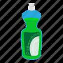 bottle, cartoon, clean, dishwasher, kitchenware, plastic, soap