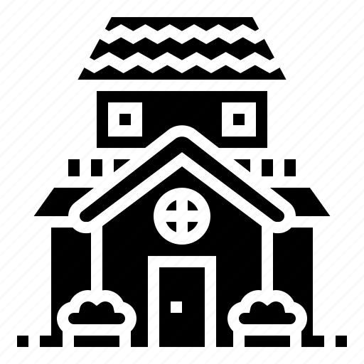 building, clean, estate, home, house icon