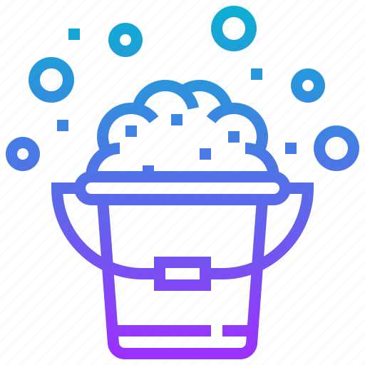 bucket, clean, container, pail, wash icon