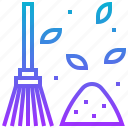 broom, clean, dust, leaf, wash icon
