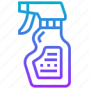 bottle, clean, spray, wash icon
