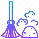 broom, clean, dust, sweep, wash icon