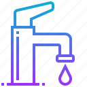 clean, tap, wash, water icon