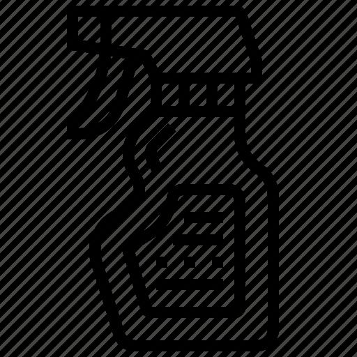 bottle, clean, spray, wash icon