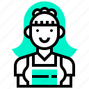 charwoman, female, maid, service, uniform icon