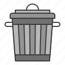 bin, clean, cleaning, cleaning equipment, equipment, housekeeping, trashcan icon