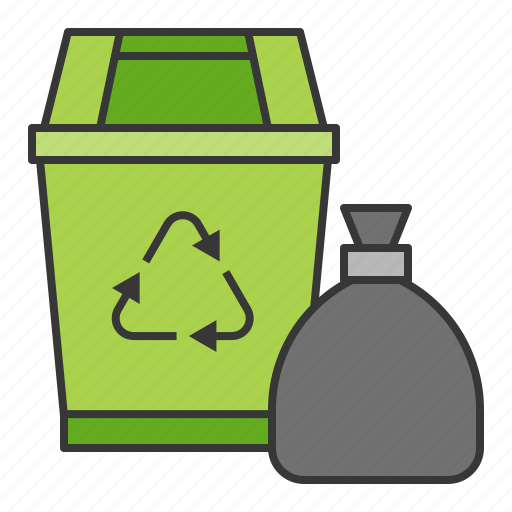 bin, clean, cleaning, cleaning equipment, housekeeping, trash bag, trashcan icon