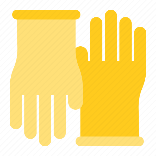 Cleaning, cleaning equipment, equipment, glove, housekeeping, rubber glove icon - Download on Iconfinder
