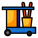 cart, clean, cleaning, housework, janitor, tool