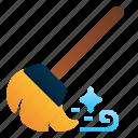 broom, broomstick, brush, cleaning, dust, housework, sweep