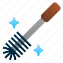 brush, clean, plumber, toilet, tool