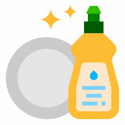 cleaning, dish, soap icon