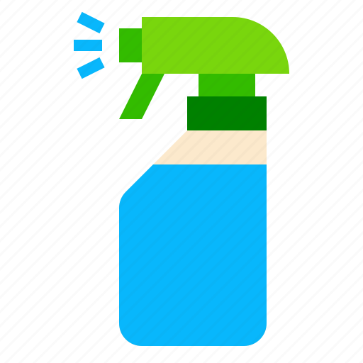 bottle, cleaning, spray icon