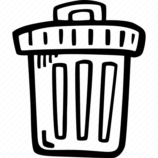 cleaning, garbage bin, rubbish, trash icon