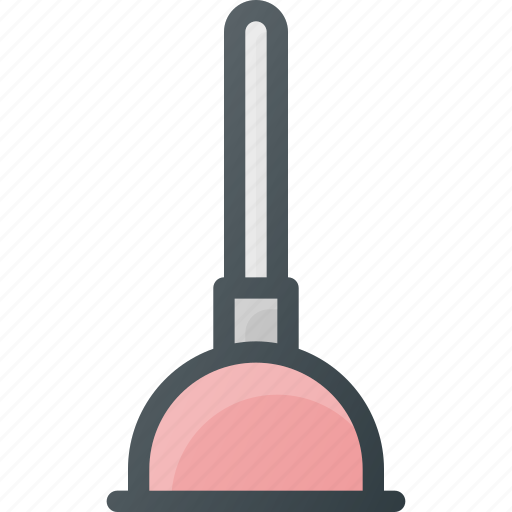 bathroom, cleaning, plunger, pump, toilet icon