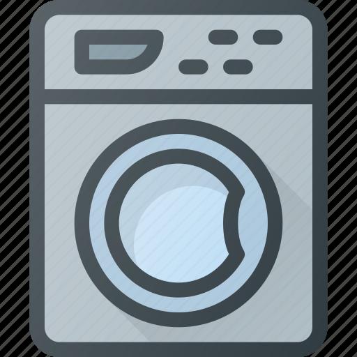 clothes, housekeeping, laundry, machine, washing icon