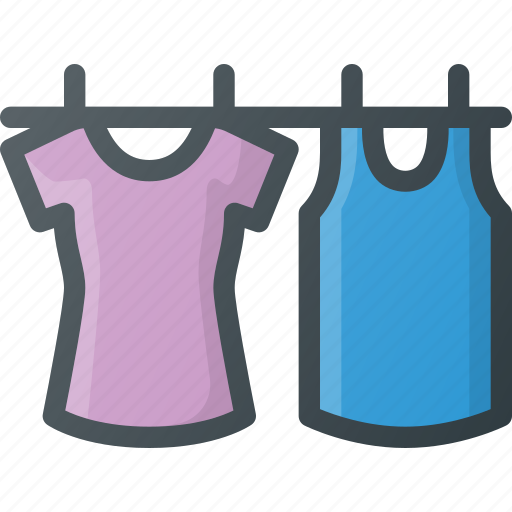 clean, clothes, clothespin, drying, hang, washing icon