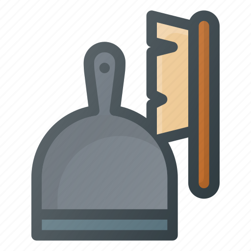 brush, clean, cleaning, dust, dustpan, pan, sweep icon