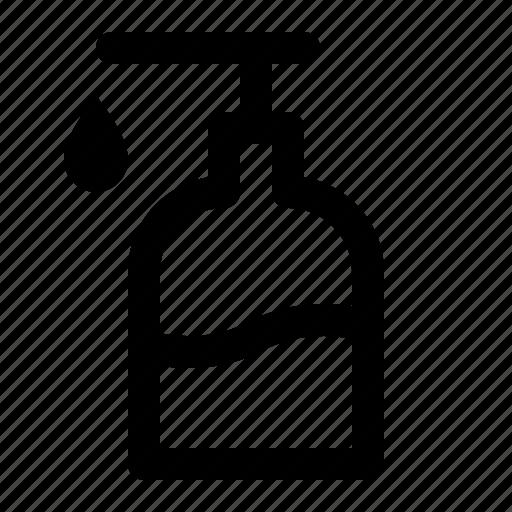bathroom, bottle, hand, liquid, soap, toilet icon